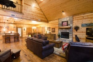 cabin for large get togethers