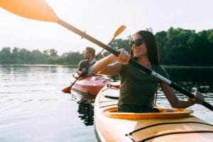 Photo of Couple Broken Bow Kayaking on the Lake.