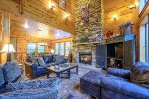 The interior of Creekside Lodge, a pet friendly cabin rental in Broken Bow
